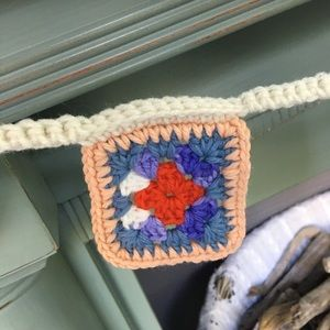 Hand Crafted Accents - Crochet Granny Square Farm Chic Garland